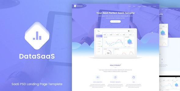 DataSaaS PSD Template - Software Technology