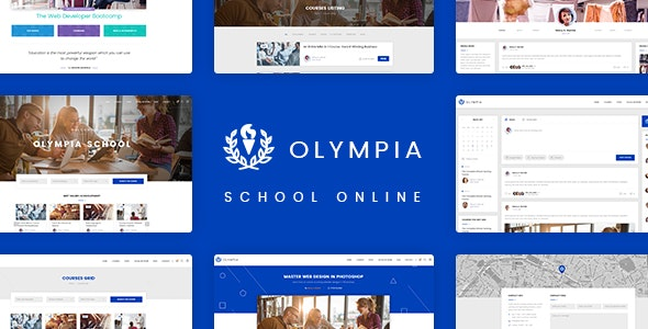Olympia - School Online PSD Template - Retail Photoshop