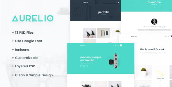 Aurelio - Creative Agency & Portfolio PSD Templates