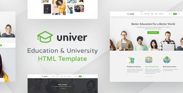 Univer - Education - Corporate Site Templates