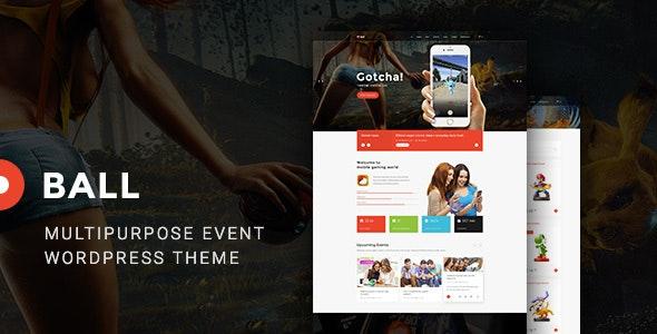 Ball — Multipurpose entertainment event Portfolio WP Theme - Entertainment WordPress
