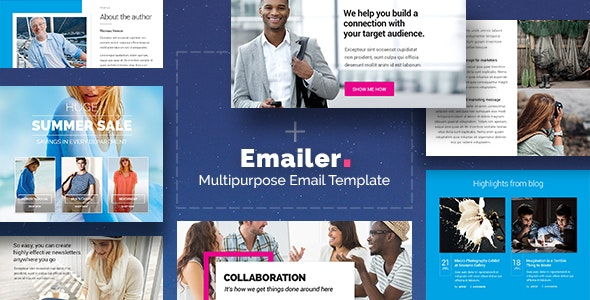 Emailer - Drag & Drop Email Template + Builder Access - Newsletters Email Templates