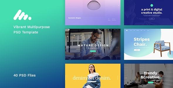 Moody - Vibrant Multipurpose PSD Template - Creative Photoshop