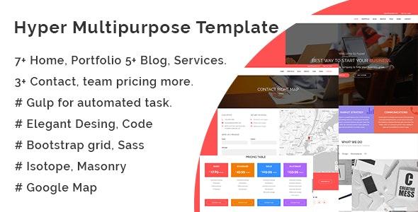 Hyper Multipurpose Template - Corporate Site Templates