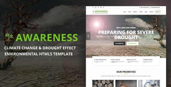 Awareness - Environmental Protection & Non-Profit HTML5 Template