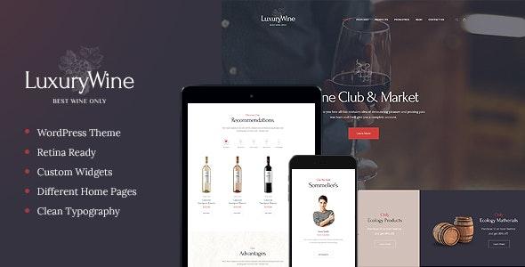Luxury Wine | Liquor Store & Vineyard WordPress Theme + Shop - Food Retail