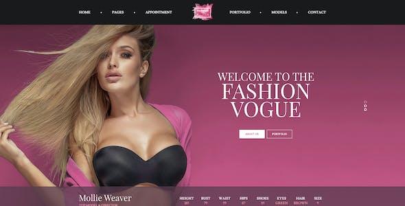 Vogue - Model Agency and Portfolio PSD Template