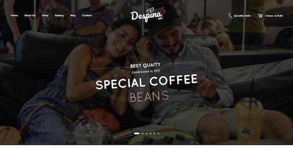 Despina - Coffee & Cake PSD Template