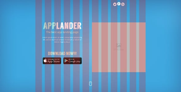 Applander - One Page App Landing PSD Template