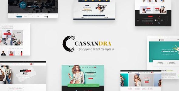Cassandra Shopping - Multipurpose e-commerce PSD Template - Retail Photoshop