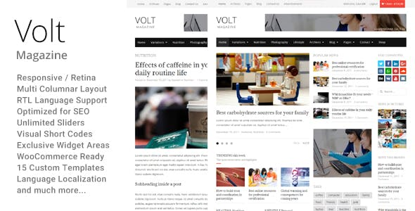 Volt - Newspaper Magazine theme WordPress