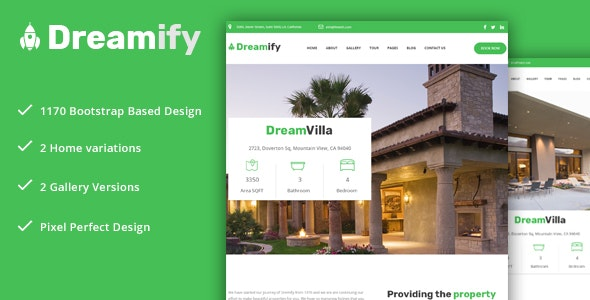Dreamify - Single Property/Real Estate PSD Template! - Business Corporate