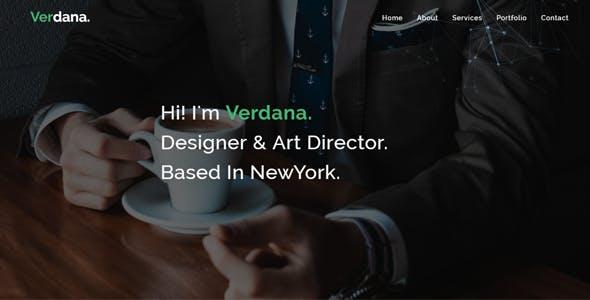 Verdana - Responsive Personal / portfolio template