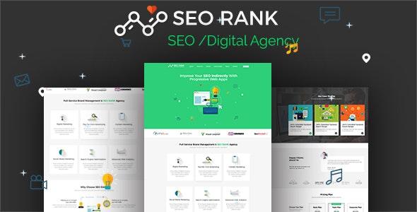 SEO Rank - PSD Template - Marketing Corporate
