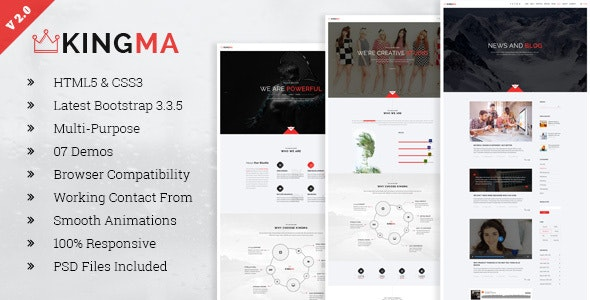 KingMa   Creative Business Onepage HTML Template - Creative Site Templates