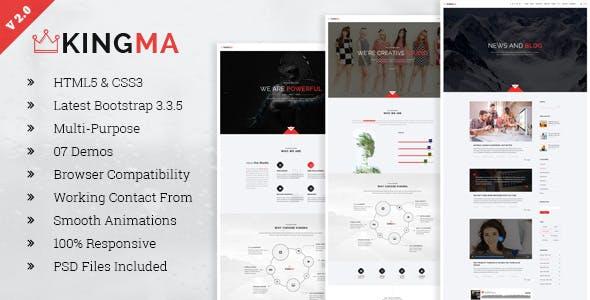 KingMa | Creative Business Onepage HTML Template
