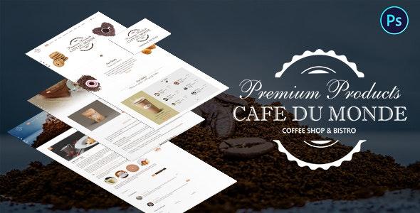 Cafe du Monde - Onepage Cafe & Bistro Template - Restaurants & Cafes Entertainment