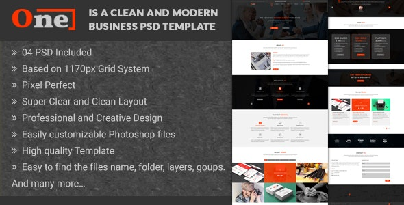 One - Multipurpose Corporate Business PSD Template - Business Corporate