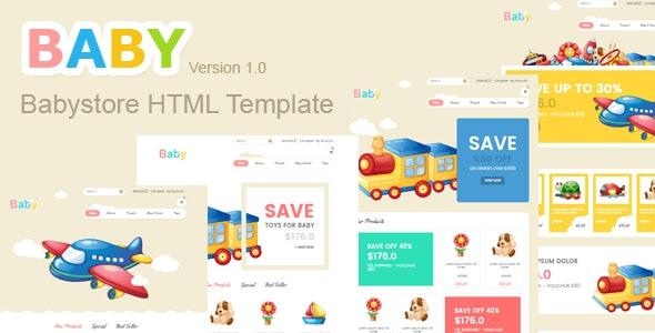 Baby Store HTML5 Template - Children Retail