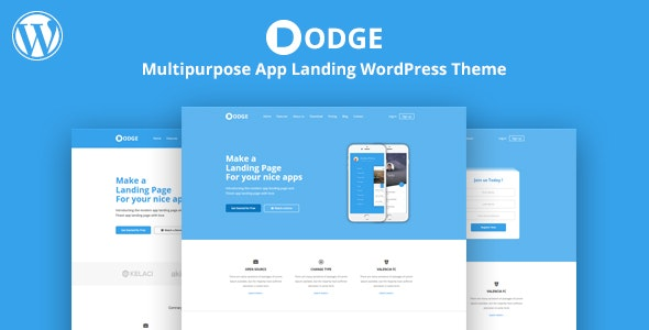 DODGE - WordPress App Landing Theme - Software Technology