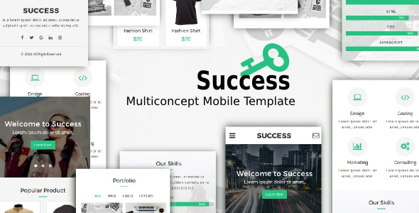 Success - Multiconcept Mobile Template - Mobile Site Templates