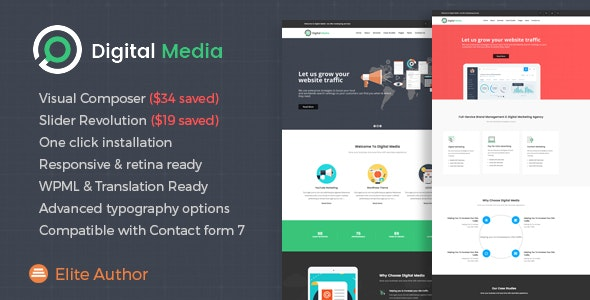 Digital Media - Online Marketing WordPress theme - Marketing Corporate