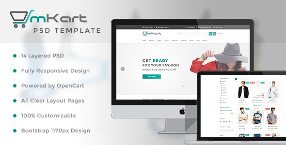 mKart - for OpenCart PSD Template - Retail Photoshop