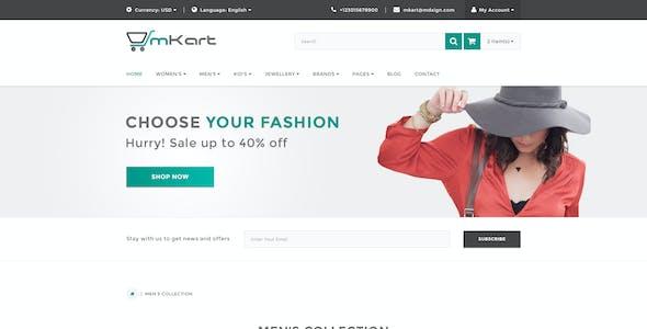 mKart - for OpenCart PSD Template