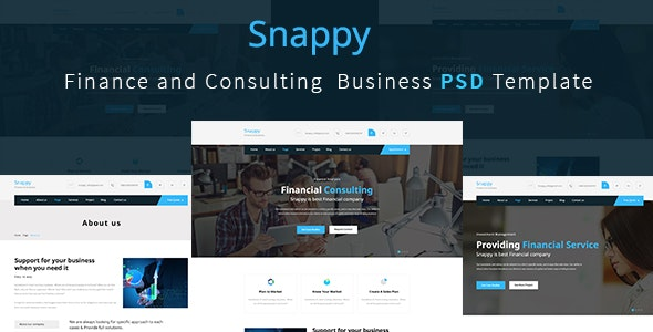 Finance and Consulting  Business Template - Corporate Photoshop