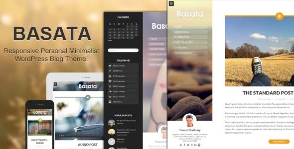 Basata v1.3.3 – Retina Responsive WordPress Blog Theme