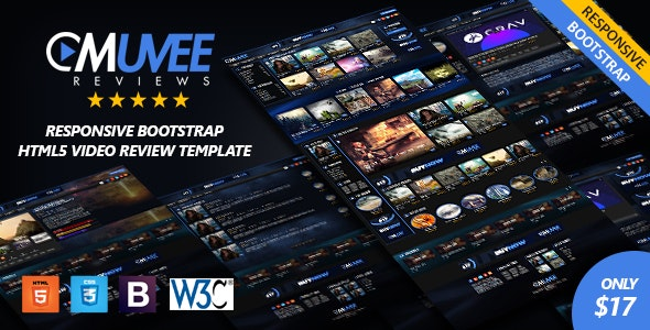 Muvee Reviews | Video/Movie Responsive HTML5 Bootstrap Template - Entertainment Site Templates