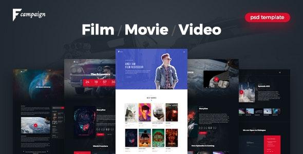 FilmCampaign - Film Campaign PSD Template - Film & TV Entertainment