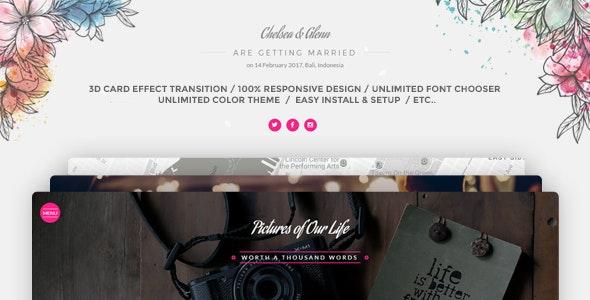 Wedding Card Invitation  WordPress - Wedding WordPress