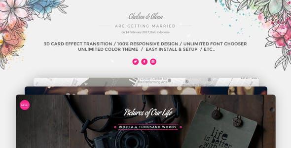 Wedding Card Invitation  WordPress