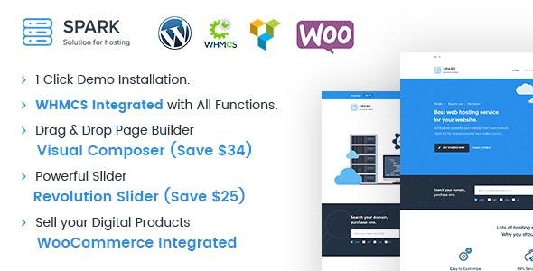 Spark - Responsive WHMCS Hosting WordPress Theme - Hosting Technology
