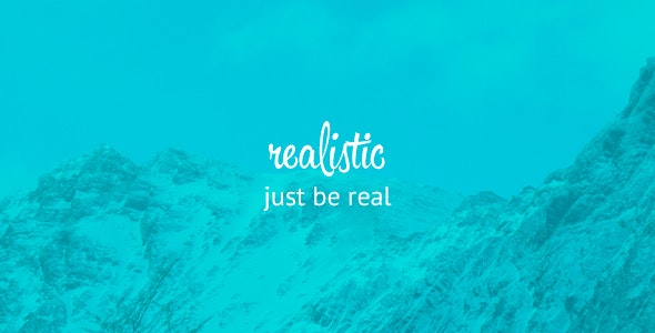 Realistic - Simple and Clean blog template - Creative Site Templates