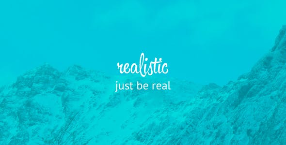 Realistic - Simple and Clean blog template