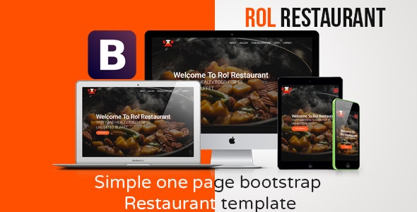 Rol Restaurant - One page Bootstrap Theme - Restaurants & Cafes Entertainment