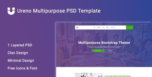 Ureno Multipurpose PSD Template - Corporate Photoshop