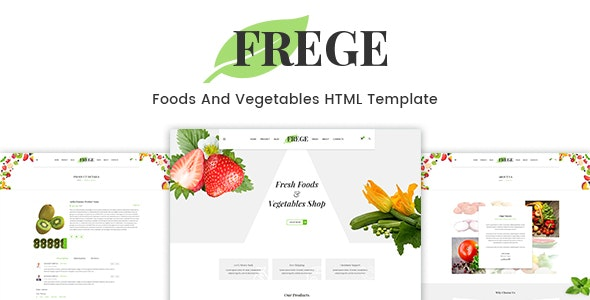 Frege - Food Shop HTML Template - Food Retail