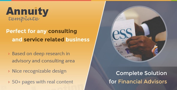 Annuity - Financial Advisory & Consulting Template - Business Corporate