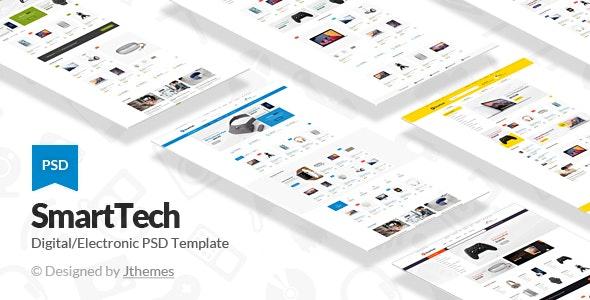 Smart Tech - Multipurpose Ecommerce PSD Template - Shopping Retail