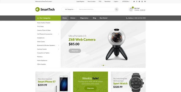 Smart Tech - Multipurpose Ecommerce PSD Template