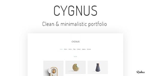 Cygnus - Clean and minimalistic portfolio theme - Portfolio Creative