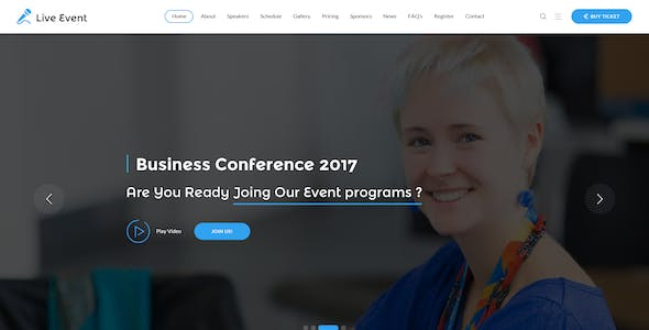 Live Event - Conference & Meetup PSD Template