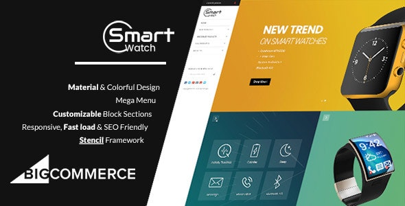 Materient Smart Watches - Material Design Stencil BigCommerce Theme - BigCommerce eCommerce
