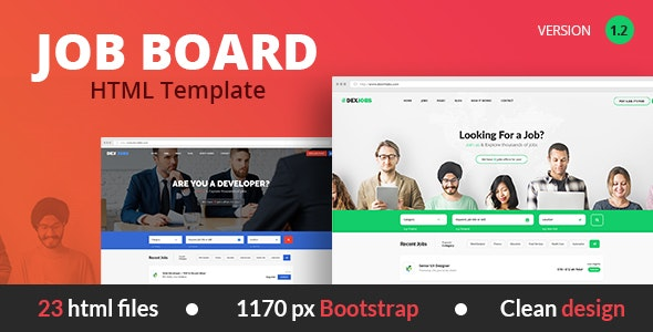 Dexjobs Job Board HTML Template - Business Corporate