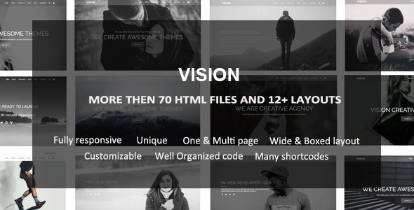 Vision - Multipurpose HTML Template - Corporate Site Templates