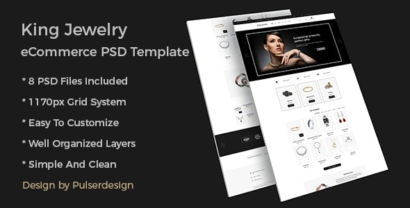 King Jewelry eCommerce PSD Template - Photoshop UI Templates