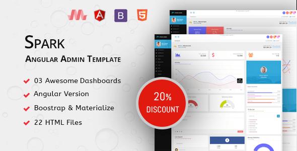 Angular Admin Template | Spark - Admin Templates Site Templates